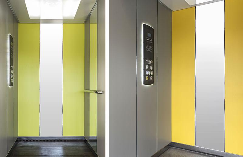 ascensores coloridos