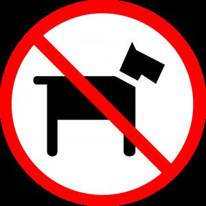 señal perros no